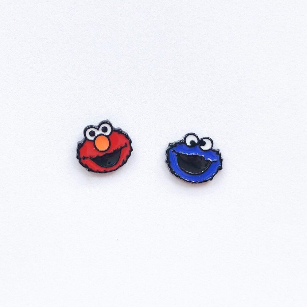 elmo-and-cookie-monster-studs-earrings-1