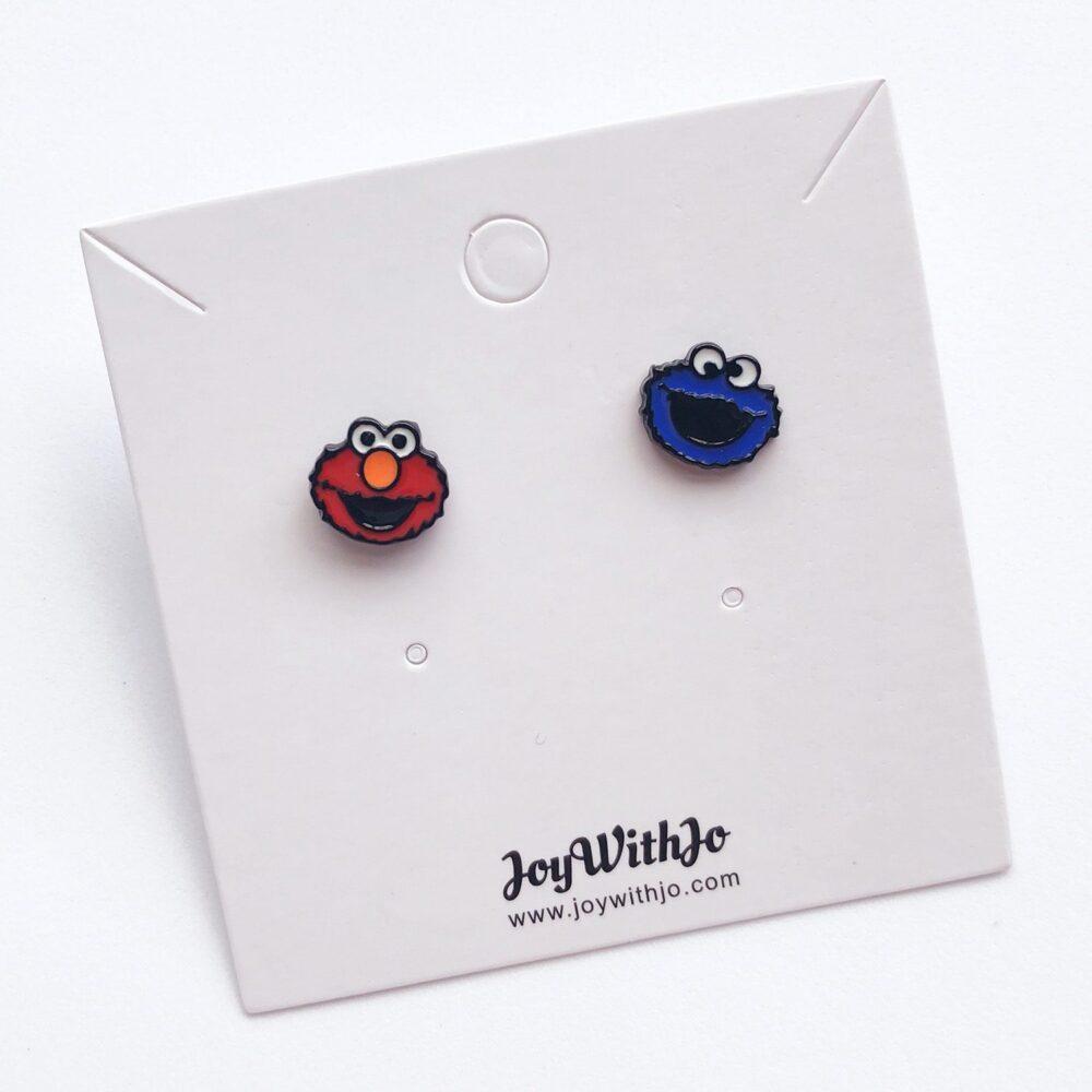 elmo-and-cookie-monster-studs-earrings-2