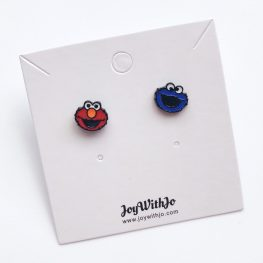 elmo-and-cookie-monster-studs-earrings-2