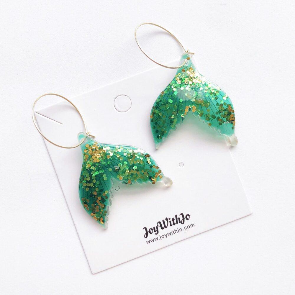 fish-mermaid-tail-glitter-hoop-earrings-green-1