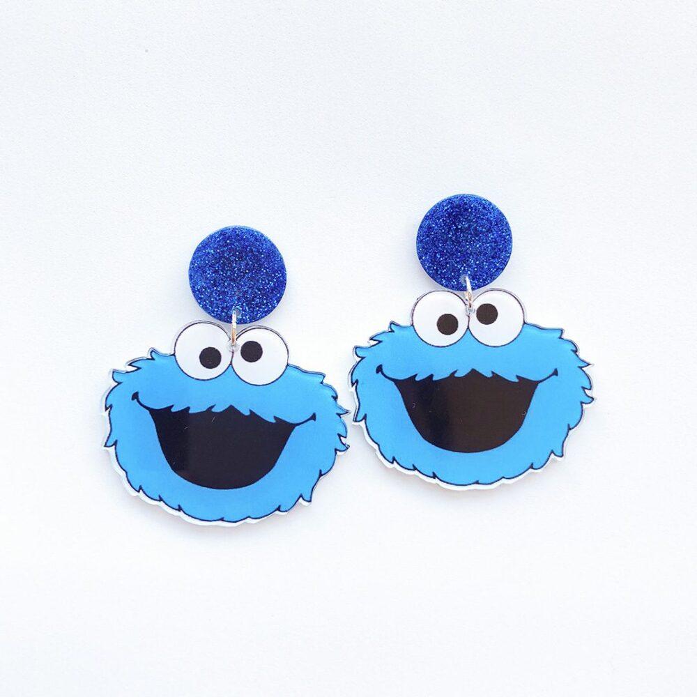 sesame-street-cookie-monster-earrings-1a