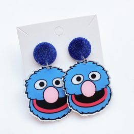 sesame-street-grover-earrings-1a