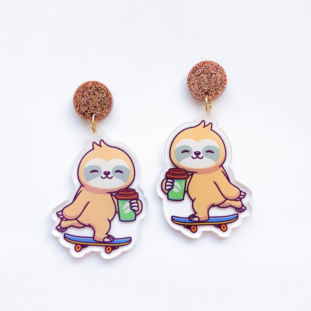 but-first-sloffee-coffee-skateboard-sloth-earrings-1