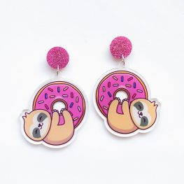hang-in-there-mate-doughnut-sloth-earrings-1
