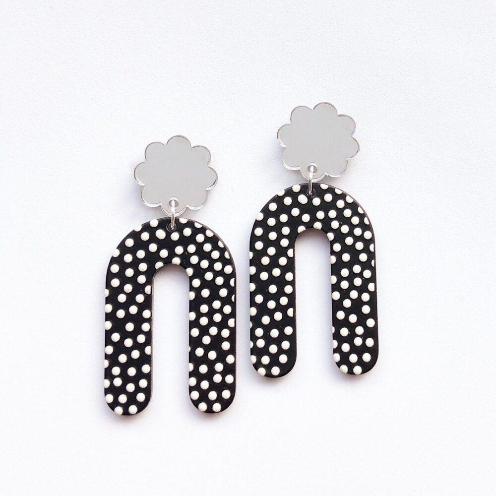black-and-white-polka-dot-earrings-1a