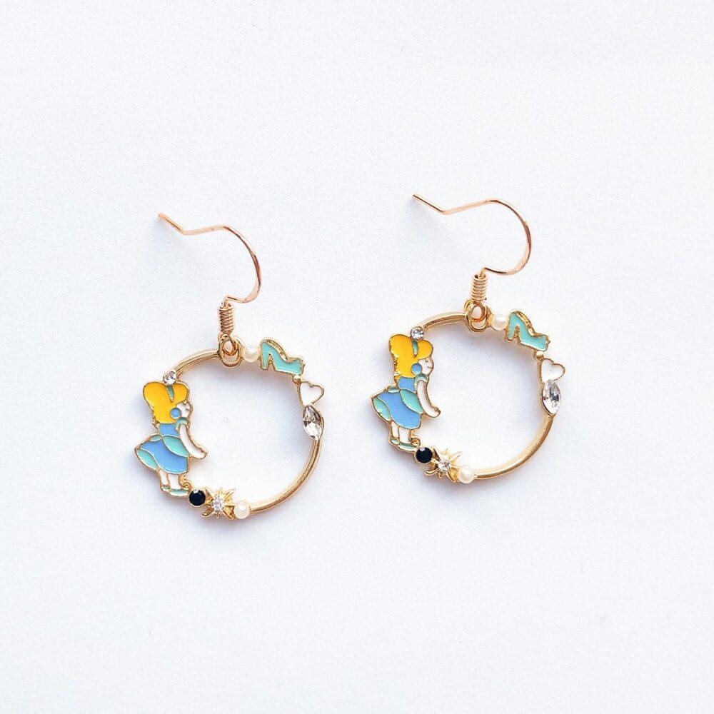 cinderella-earrings-disney-earrings-enamel-earrings-1