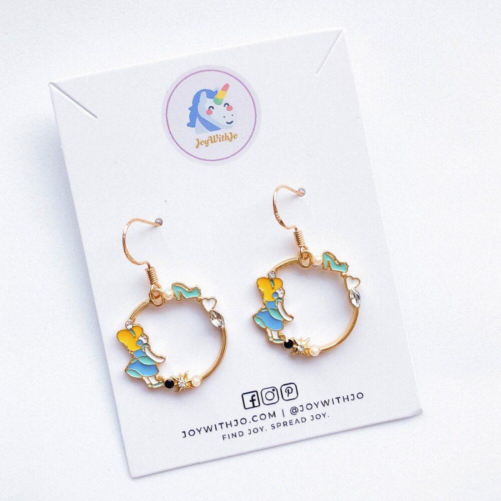 Cute Cinderella Earrings cinderella earrings disney earrings enamel earrings 2