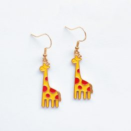giraffe-earrings-animal-earrings-enamel-earrings-1