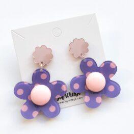 polka-dot-floral-dangle-earrings-purple-1c