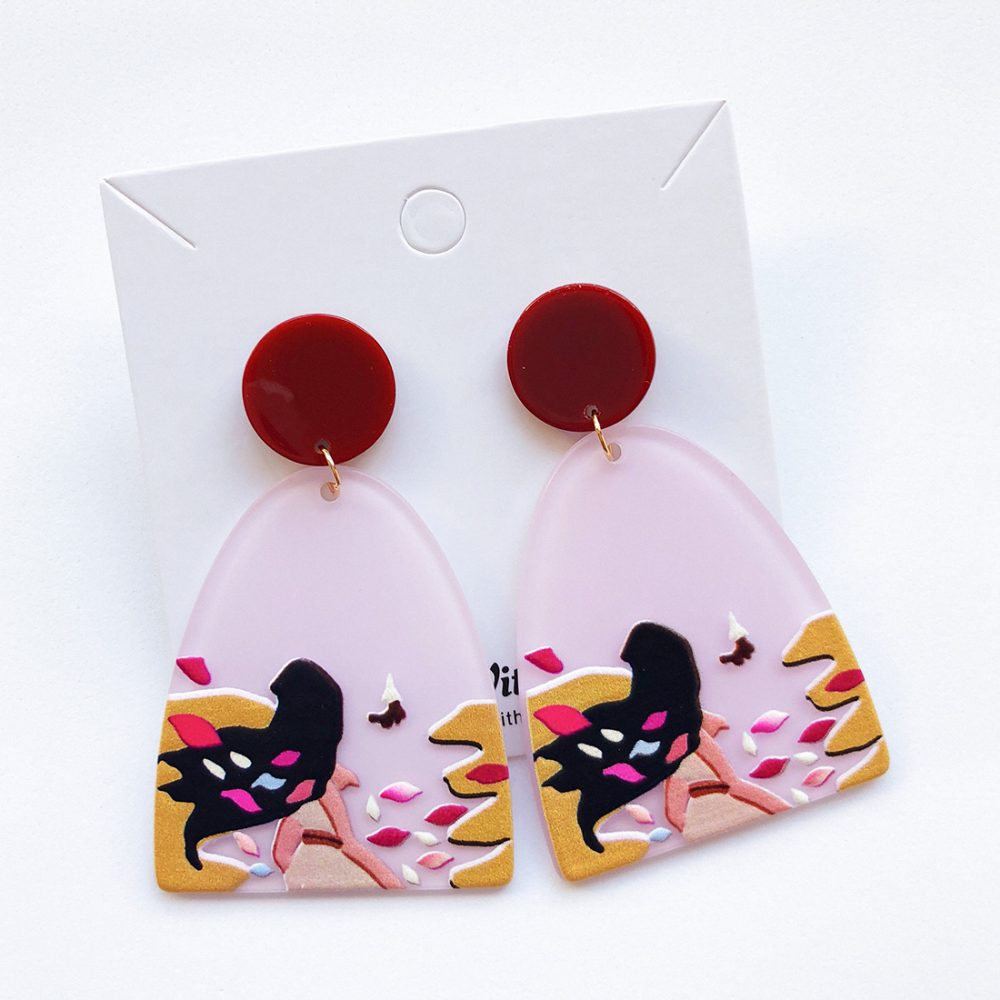 Colours of the Wind Acrylic Earrings colours of the wind pocahontas earrings acrylic earrings 2