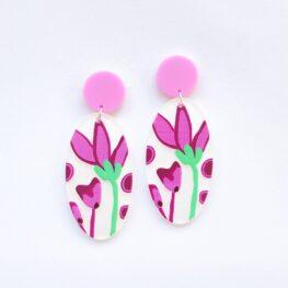 fun-fuchsia-flowers-floral-earrings-1