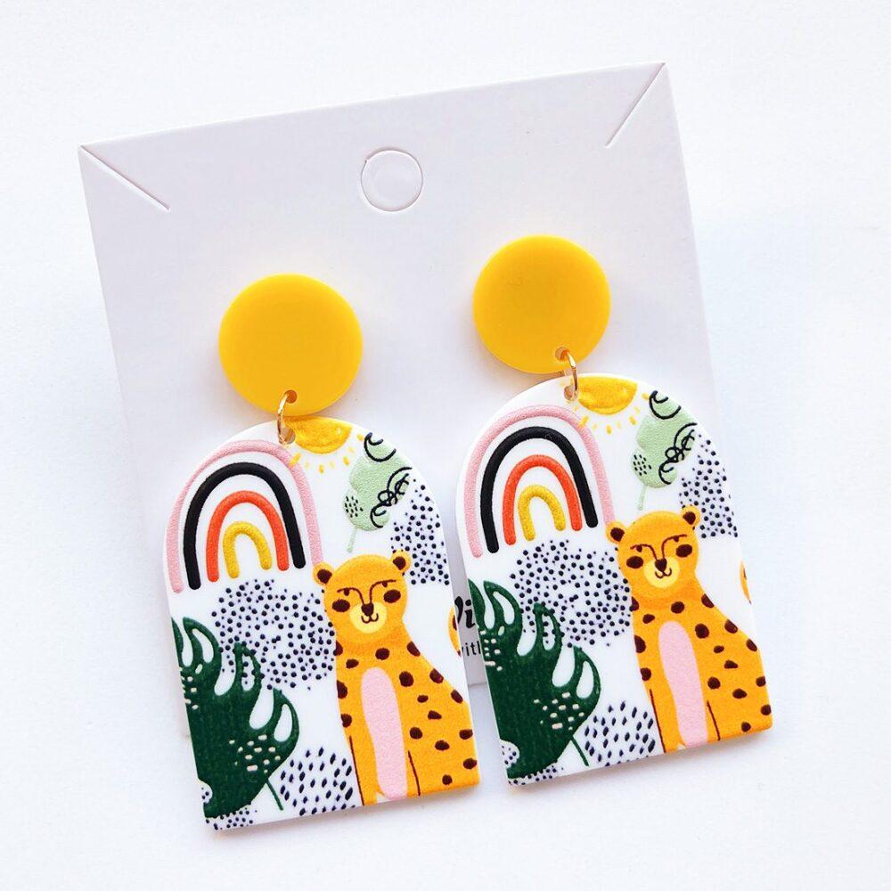 rainbow-doodle-cheetah-earrings-1