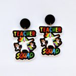Joy With Jo Reviews teacher squad unicorn teacher earrings 1