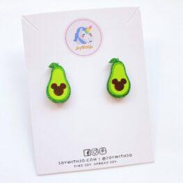 cute-mickey-avocado-stud-earrings-1a