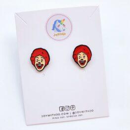 ronald-mcdonald-stud-earrings-1a