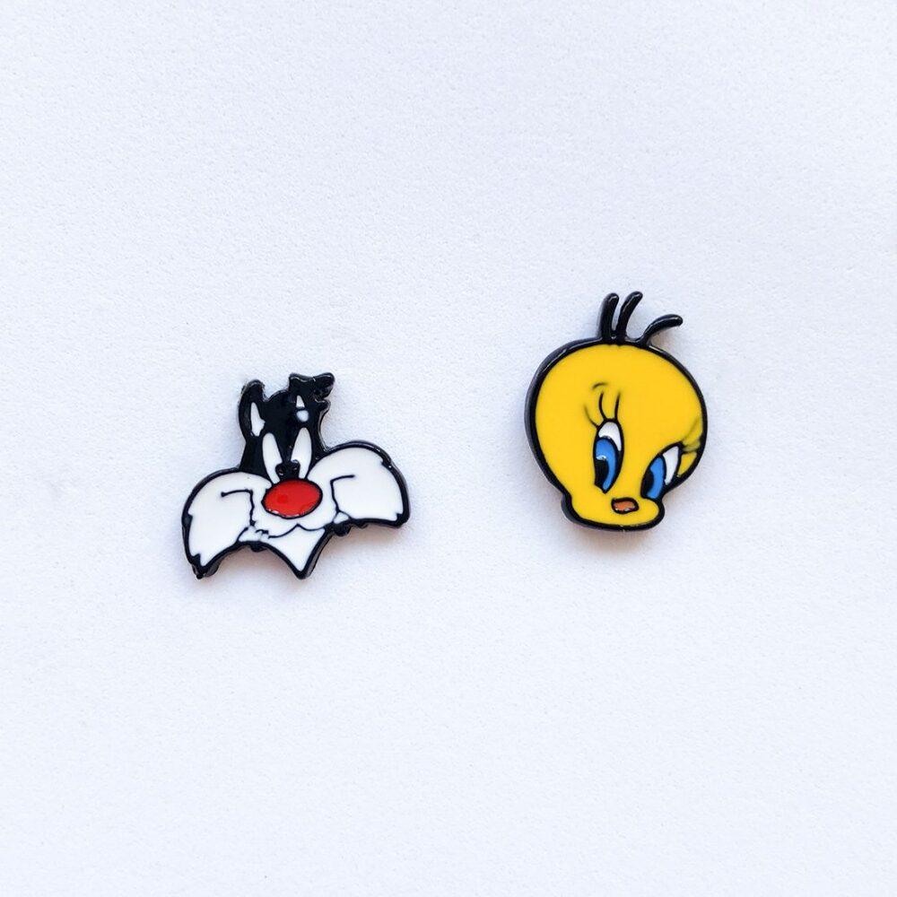 sylvester-and-tweety-stud-earrings-1a