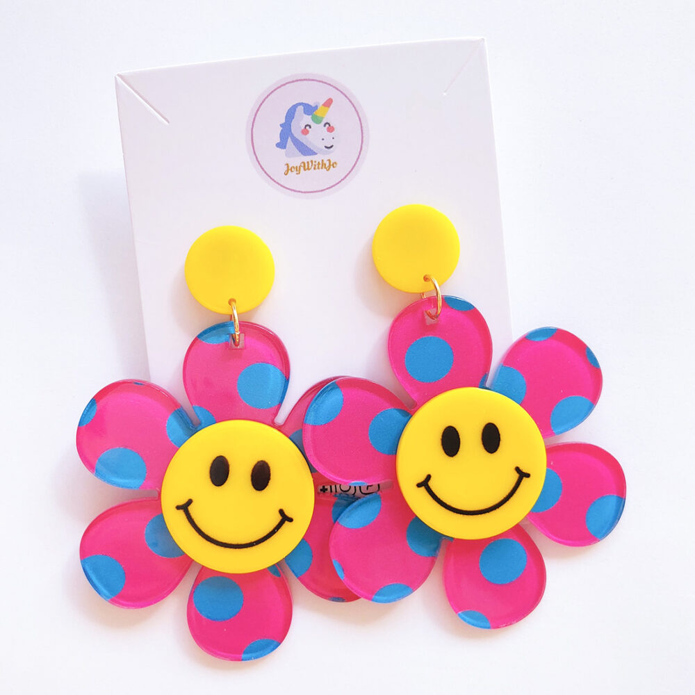 just-smile-and-be-happy-floral-earrings-pink-1