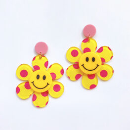 just-smile-and-be-happy-floral-earrings-yellow-1