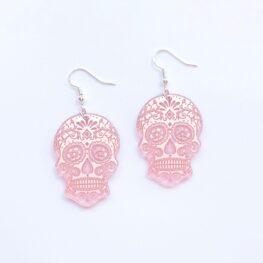 mirror-skull-halloween-earrings-pink-1