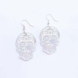 mirror-skull-halloween-earrings-silver-1