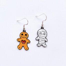 gingerbread-mummy-enamel-halloween-earrings-1
