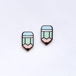pencil-stud-earrings-teacher-earrings-blue-1